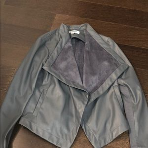 BB Dakota Gray Faux Leather Jacket